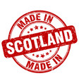 made in scotland red grunge round stamp vector image vector image