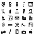 maquillage icons set simple style vector image