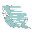 mermaid on the background of water vector image vector image