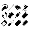 Mobile Phone Accessories Icon Set