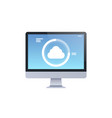 modern desktop monitor internet connection cloud vector image vector image