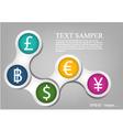 money template vector image vector image