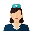 nurse woman silhouette design vector image