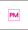 p m joint letter logo abstract design vector image vector image