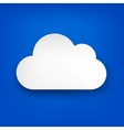 Paper white cloud on blue vector | Price: 1 Credit (USD $1)