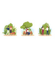 park walking people young couple characters rest vector image
