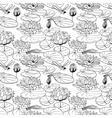 pattern with a water lily vector image vector image