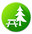 picnic table green circle icon vector image