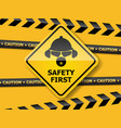 safety first background vector image