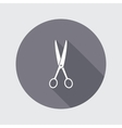 Scissors shears icon Tool for cuting Haircut vector image vector image