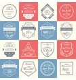Set of Vintage Car Badges and Sign vector image vector image