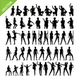 Sexy women and dancing silhouettes vector image vector image
