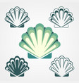 shell symbols isolated on a white background vector image vector image