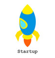 startup icon isometric style vector image