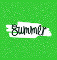 summer - handwritten inscription vector image vector image