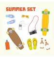 Summer objects isolated set vector image vector image
