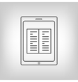 Tablet PC with book image vector image