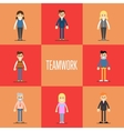 Teamwork concept with people cartoon characters vector image vector image