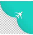 the plane takes off an empty place for advertising vector image