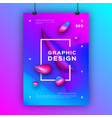 trendy graphic design poster liquid shapes vector image vector image