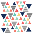 triangle pattern color variation vector image vector image