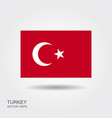 turkey flag turkey flag vector image vector image