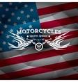 vintage american motorcycle club label or badge vector image vector image