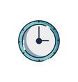 wall circle clock object design vector image