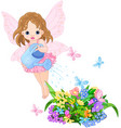 watering fairy vector image
