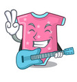 with guitar cartoon baby clothes for the newborn vector image