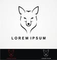 Wolf Head Logo Design vector image vector image