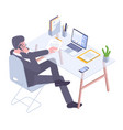 young professional at work vector image
