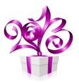 2013 ribbon gift box vector image
