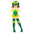 A cute superhero vector image vector image