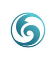 abstract circle wave logo image vector image vector image