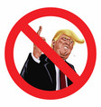 anti trump sign icon vector image vector image