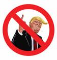 Anti trump sign icon