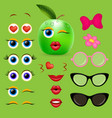 apple girl emoji creator design collection vector image
