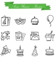 art of New Year icons object vector image vector image
