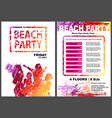 beach party flyer template vector image