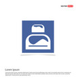 bed icon - blue photo frame vector image