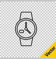 black line wrist watch icon isolated on vector image vector image