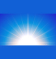 blue background with glowing light effect design vector image vector image