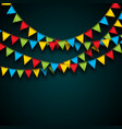 celebrate with party flags and vector image