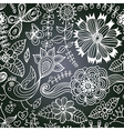 chalkboard seamless floral pattern Copy that vector image vector image