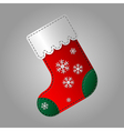 Christmas sock with snowflakes vector image vector image