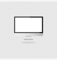 computer with a light display on a gray background vector image