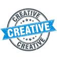 creative round grunge ribbon stamp vector image vector image