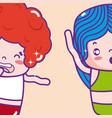 cute kids emojis vector image vector image