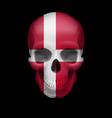 Danish flag skull